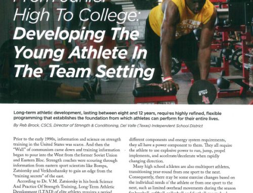 From Junior High to College: Developing the Young Athlete in the Team Setting